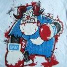 Devil Bull Boxer Handmade White T-shirt