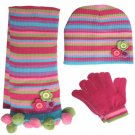 Knitted Hat & Scarf & Glove Set (2116)