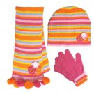 Knitted Hat & Scarf & Glove Set (21162)
