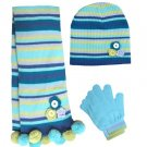 Knitted Hat & Scarf & Glove Set