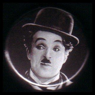 "1"" Inch Charlie Chaplin Hollywood Button Badge Pin - 0099"