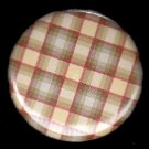 Yellow Pretty in Plaid 1 Inch Pin Back Button Badge  - 1050