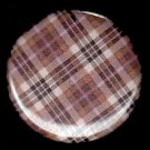Pretty in Plaid in Pinks 1 Inch Pin Back Button Badge  - 1052