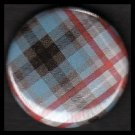 Pretty in Plaid in Red and Blue, 1 Inch Pin Back Button Badge  - 1057