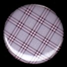 Pretty in Plaid in Lavender, 1 Inch Pin Back Button Badge  - 1060