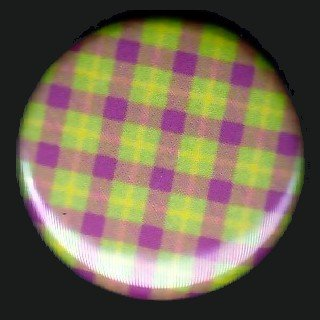 Pretty in Plaid in Yellow Green and Red, 1 Inch Pin Back Button Badge  - 1064