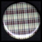Pretty in Plaid in Shades of Purple and Green, 1 Inch Pin Back Button Badge  - 1076