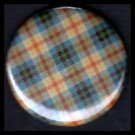 Pretty in Plaid in Shades of Blue Yellow and Red, 1 Inch Pin Back Button Badge  - 1080