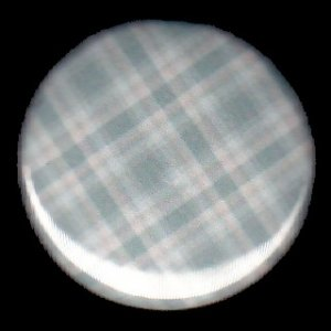 Pretty in Plaid in Shades of Light and Medium Blues, 1 Inch Button Badge Pin - 1084