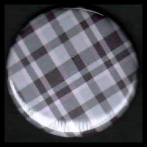 Pretty in Plaid in Shades of Purple, 1 Inch Button Badge Pin - 1090