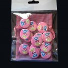 13 bff on Pink Background, 1 Inch Teen Flair Button Badge Pinback Pins