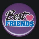 Best Friends on Purple Background, 1 Inch BFF Button Badge Pinback - 2145