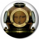 Lady Diver 4, Steampunk 1 Inch Pinback Button Badge - 6053