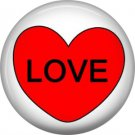 Love, Valentine's Day 1 Inch Pinback Button Badge - 6018