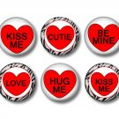 Conversation Valentine's Day 1 Inch Scrapbooking Flair Medallions Set of 12