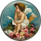 Vintage Valentine's Day Graphics 1 Inch Pinback Button Badge - 2088