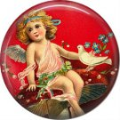 Vintage Valentine's Day Graphics 1 Inch Pinback Button Badge - 2092