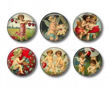 Vintage Valentine's Day Graphics 12 1 Inch Scrapbooking Flair Medallions - Set 2