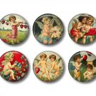 Vintage Valentine's Day Graphics, 12 1 Inch Pinback Buttons - Set 2
