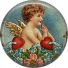 Vintage Valentine's Day Graphics 1 Inch Pinback Button Badge - 2105