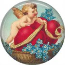 Vintage Valentine's Day Graphics 1 Inch Pinback Button Badge - 2108