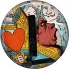 Queen of Hearts, Classic Alice in Wonderland 1 Inch Button Badge Pin - 0060