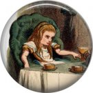 Alice at the Tea Party, Classic Alice in Wonderland 1 Inch Button Badge Pin - 0054