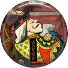 King of Hearts, Classic Alice in Wonderland 1 Inch Button Badge Pin - 0048