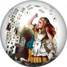 Nothing but a Pack of Cards, Classic Alice in Wonderland Button Badge Pin - 0047