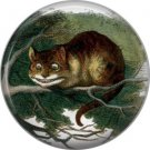 Cheshire Cat, Classic Alice in Wonderland 1 Inch Button Badge Pin - 0044