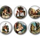 Alice in Wonderland 12 1 Inch Scrapbooking Flair Medallions - Set 2