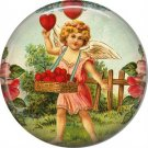 Vintage Valentine's Day Graphics 1 Inch Pinback Button Badge - 2112