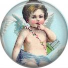 Vintage Valentine's Day Graphics 1 Inch Pinback Button Badge - 2113