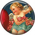 Vintage Valentine's Day Graphics 1 Inch Pinback Button Badge - 2114