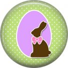 Bunny Love, Easter 1 Inch Button Badge Pin Pinback Button - 2041
