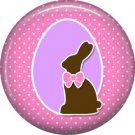 Bunny Love, Easter 1 Inch Button Badge Pin Pinback Button - 2045