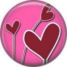 Wild Love Valentine's Day 1 Inch Pinback Button Badge Pin - 2117