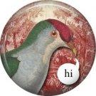 Hi, Talking Birds 1 Inch Pinback Button Badge Pin - 4004