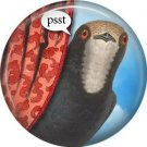Psst, Talking Birds 1 Inch Pinback Button Badge Pin - 4007