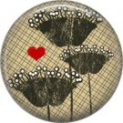 Wild Love Valentine's Day 1 Inch Pinback Button Badge Pin - 2128