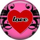 Wild Love Valentine's Day 1 Inch Pinback Button Badge Pin - 2137