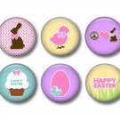 Bunny Love Set of 12 Spring and Easter 1 Inch Scrapbook Flair Medallions - Set 2