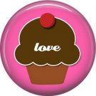 Wild Love Cupcake Love Valentine's Day 1 Inch Pinback Button Badge Pin - 2140