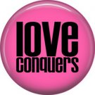 Wild Love Pink Love Conquers Valentine's Day 1 Inch Pinback Button Badge Pin - 2144