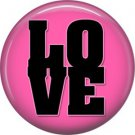 Wild Love Pink Love Valentine's Day 1 Inch Pinback Button Badge Pin - 2146