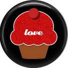 Wild Love Red Love Cupcake Valentine's Day 1 Inch Pinback Button Badge Pin - 2155