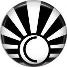 Art Deco Sunburst Alphabet Letter C, 1 Inch Button Badge Pin