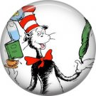 The Cat in the Hat Balancing Trick, Dr. Seuss 1 Inch Pinback Button Badge - 6046