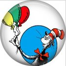 The Cat in the Hat with Balloons, Dr. Seuss 1 Inch Pinback Button Badge - 6043