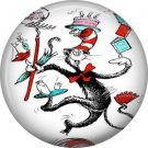 The Cat in the Hat Juggling, Dr. Seuss 1 Inch Pinback Button Badge - 6037